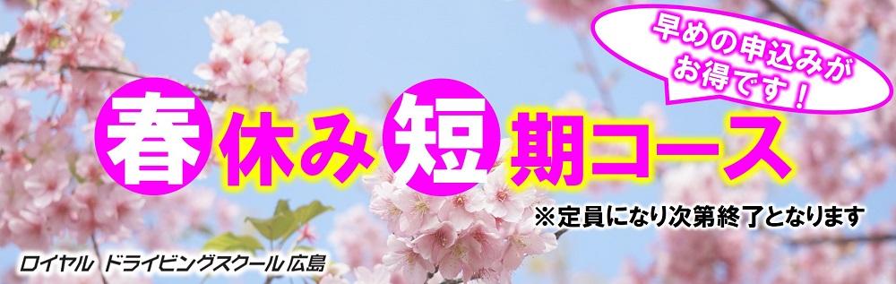 春の短期コース|公認自動車学校ロイヤルドライビングスクール広島